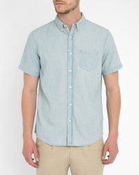 Denim And Supply Ralph Lauren Short Sleeved Chambray Shirt Blue
