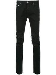 Fagassent Skinny Trousers Cotton Polyurethane Black