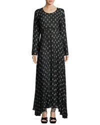 Raga Moon Dance Long Sleeve Maxi Dress Green