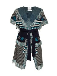 Banjo And Matilda Marrakech Geometric Intarsia Knit Cardigan