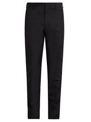 Lanvin Slim Fit Wool Trousers Navy Multi