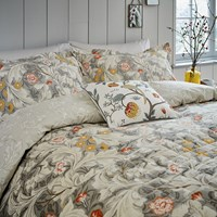 Morris And Co Leicester Bed Set Grey
