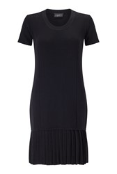 James Lakeland Pleat Hem Knit Dress Black