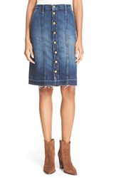 Women's Current Elliott 'The Short Sally' Denim Skirt