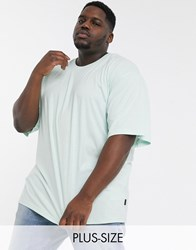 Soul Star Plus Organic Cotton Oversized T Shirt In Pastel Green