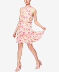 Betsey Johnson Floral Print Mock Neck Dress Floral Multi