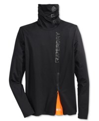 Superdry Men's Sport Runner Funnel Neck Sweatshirt Black