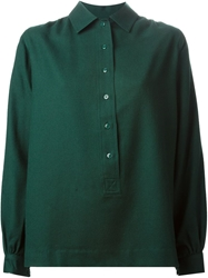 Yves Saint Laurent Vintage Button Shirt Green