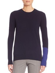 Aquilano Rimondi Colorblocked Zip Sweater Powder Cobalt Multi