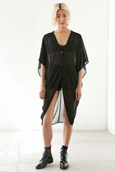 Silence And Noise Vera Mesh Maxi Tee Black