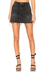 Grlfrnd Eva Denim Skirt Black