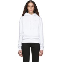 Off White And Silver Diagonal Unfinished Slim Hoodie