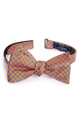 The Tie Bar Commix Check Silk Bow Tangerine