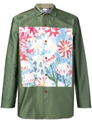 Junya Watanabe Man Graphic Print Shirt Green
