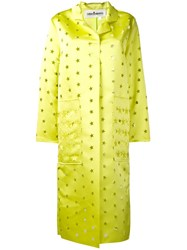 Caban Romantic Buttoned Star Coat Yellow