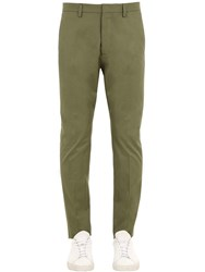 Dsquared Hockney Fit Cotton Twill Chino Pants Sage