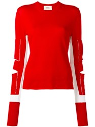 Ports 1961 Slit Detail Jumper Red