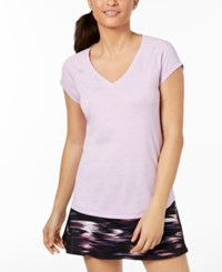 Ideology Rapidry Heathered Performance T Shirt Created For Macy's Lilac Purple