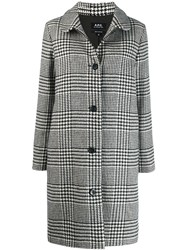 A.P.C. Houndstooth Patterned Coat Black