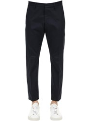 Dsquared 16.5Cm Hockney Cotton Canvas Pants Blue
