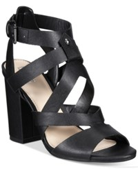 Bar Iii Mae City Block Heel Sandals Only At Macy's Women's Shoes Black