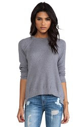 Inhabit Cotton And Cashmere Crew Neck Sweater Gray