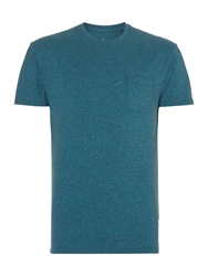 Linea Austin Short Sleeve Crew Neck Pocket T Shirt Teal