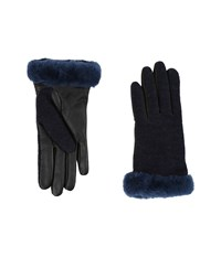 Ugg Shorty Smart Fabric Gloves W Short Pile Trim Indigo Multi Extreme Cold Weather Gloves Purple
