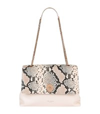Ted Baker Marlow Faux Snake Shoulder Bag Female Neutral