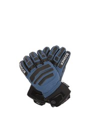 Bogner Agimo Faux Shearling Lined Leather Ski Gloves Navy