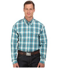Roper Big Tall 0049 Box Plaid Blue Men's Clothing