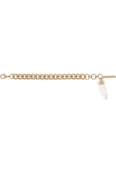 Givenchy Chain Bracelet In Pale Gold Tone And Rock Crystal