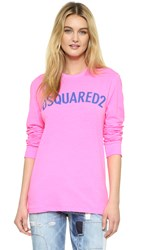 Dsquared Neon Logo Tee Pink