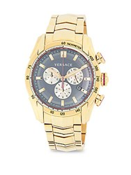 Versace V Ray Analog Display And Stainless Steel Bracelet Watch Blue