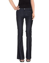 Twin Set Simona Barbieri Denim Denim Trousers Women Blue