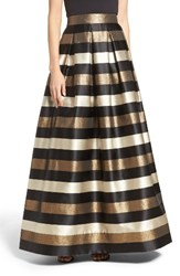 Eliza J Women's Metallic Stripe Ball Skirt