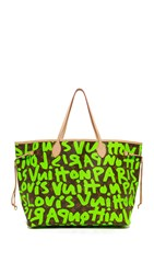 Wgaca Louis Vuitton Sprouse Neverfull Bag Previously Owned Green