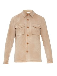 Tomas Maier Point Collar Brushed Cotton Blend Jacket
