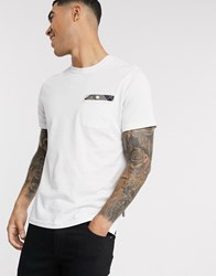 Barbour Durness Tartan Pocket T Shirt In White