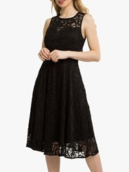 Jolie Moi Fit And Flare Lace Prom Dress Black