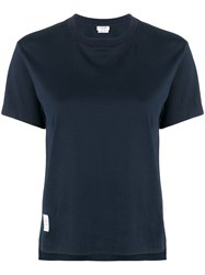Thom Browne Slide Slits Relaxed Navy Tee Blue