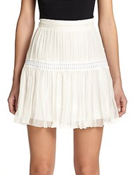 Chloe Silk Crepon Mini Skirt Ivory