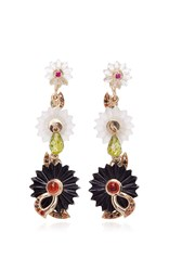 Alice Cicolini Summer Snow Dark Chandelier Earrings Black