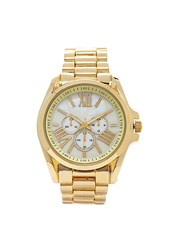 Forever 21 Roman Numeral Chronograph Watch Gold White
