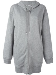 Alexander Wang Long Length Hoodie Grey