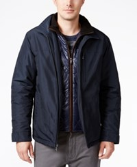 Weatherproof Vintage Men's Bomber Jacket With Attached Bib Artic Blue