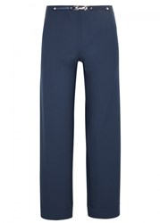 High Proceed Blue Jersey Trousers