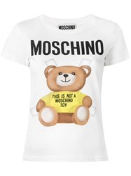 Moschino Teddy Print T Shirt White