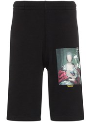 Off White Mariana Painting Print Shorts Black