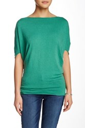 Luma Dolman Sleeve Textured Knit Sweater Green